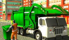 Play Real Garbage Truck Game