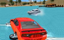 water slider car race